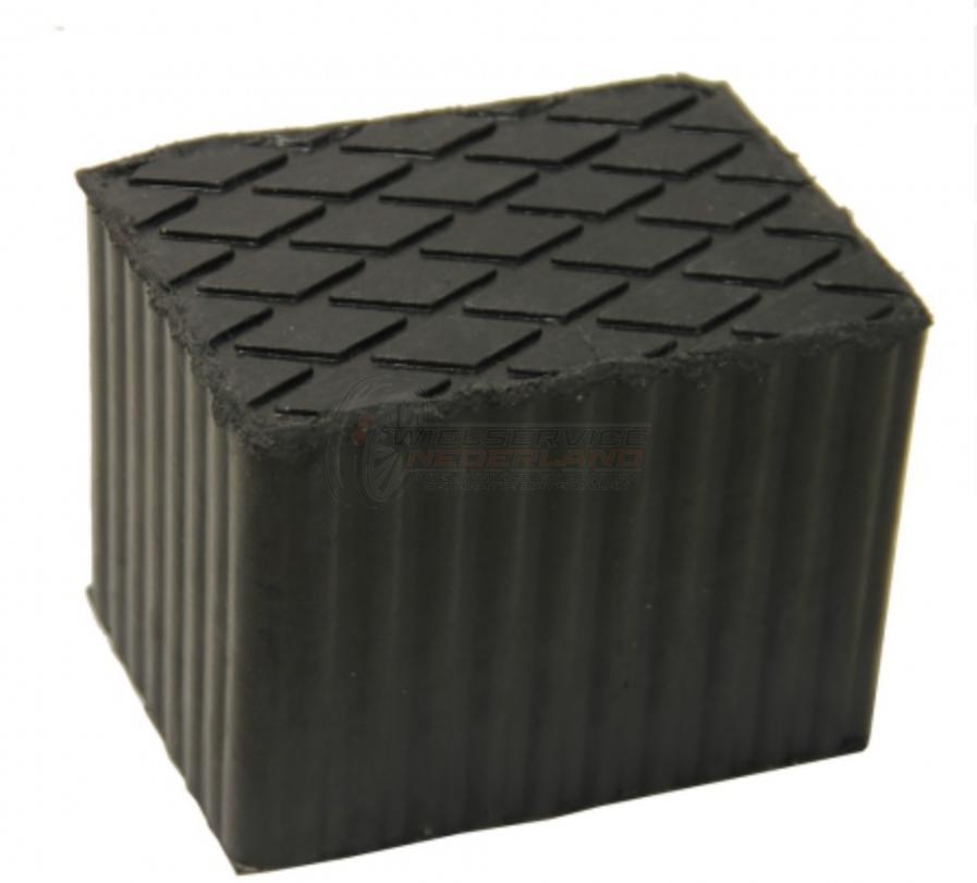 Rubber opnameblok hefbrug 160x120x120 mm